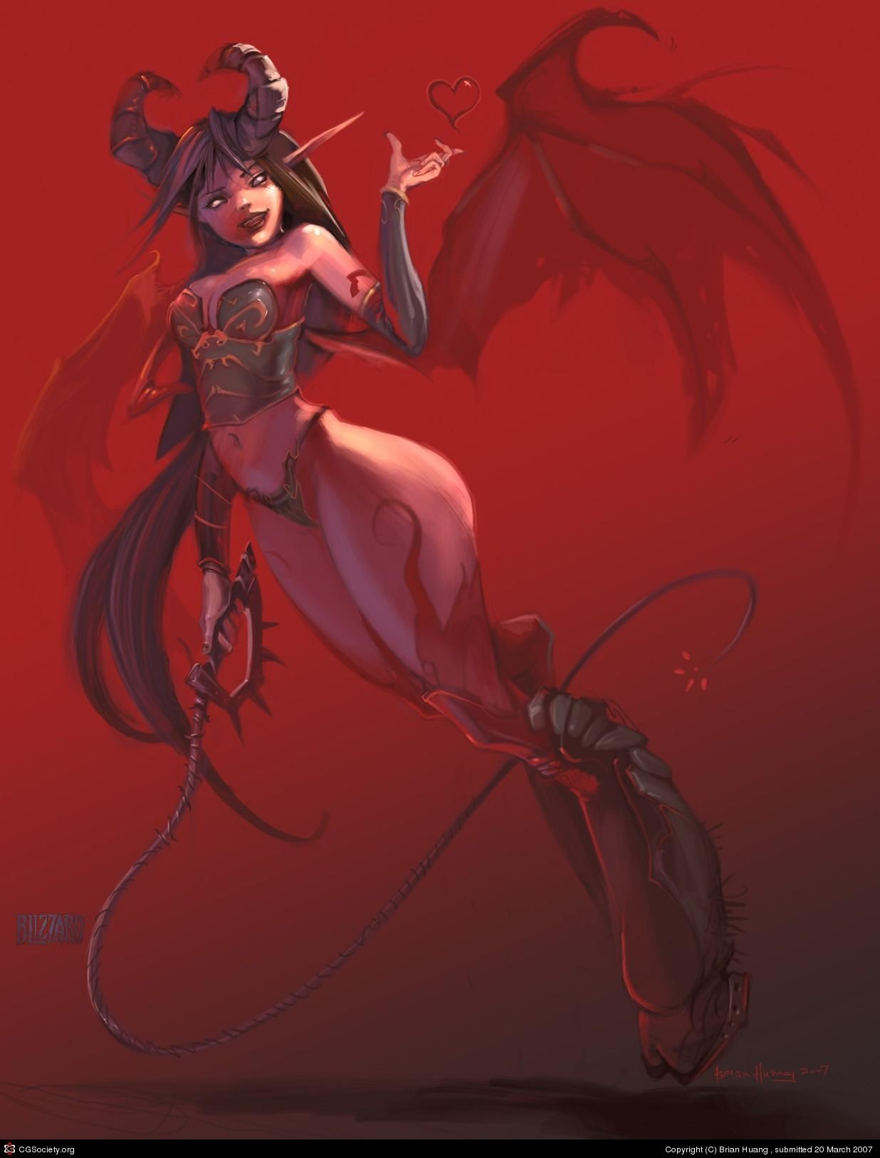 Succubus and elf sexy naughty sexgirls
