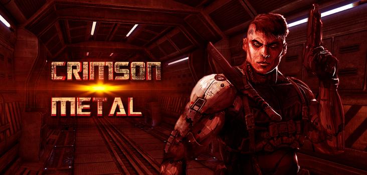 Big crimson metal poster