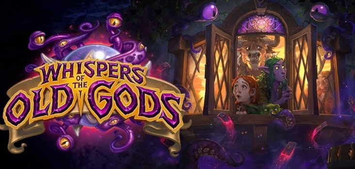 Big whispers of the old gods hearthstone expansion header