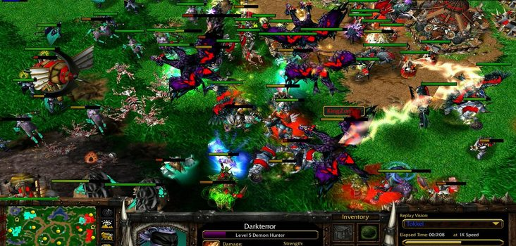 Big warcraft 3 4on4 random team clash screenshot