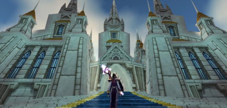 Big stormwind cathedral entrance