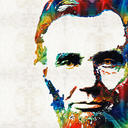 Abraham lincoln art colorful abe by sharon cummings sharon cummings